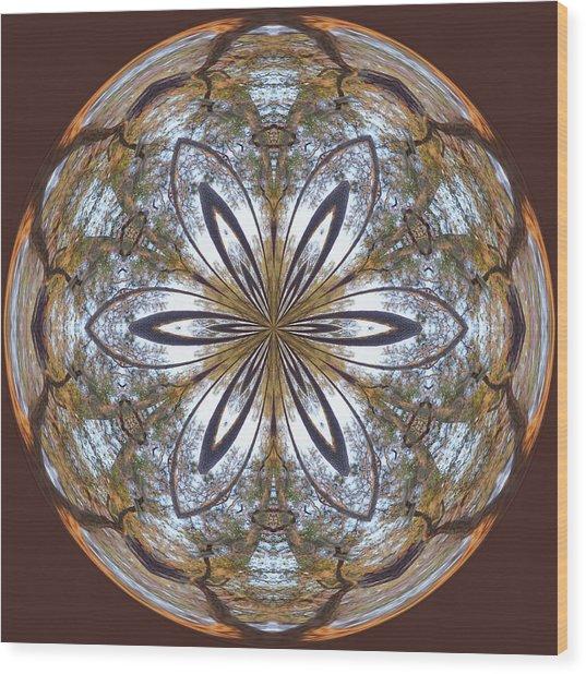 Sunrise Orb Wood Print