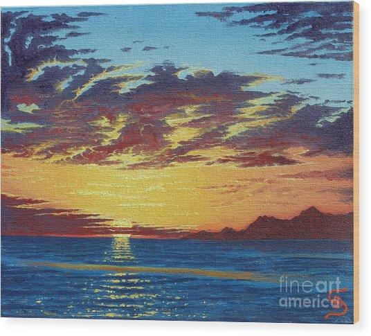 Sunrise Over Gonzaga Bay Wood Print