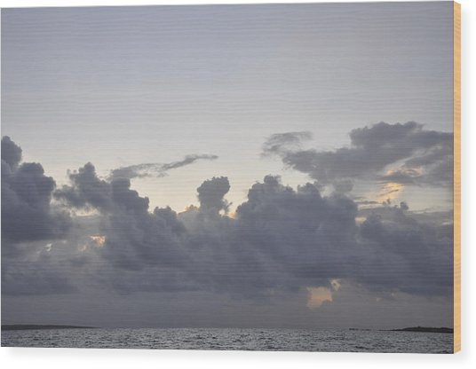 Sunrise Over Orient Bay Wood Print