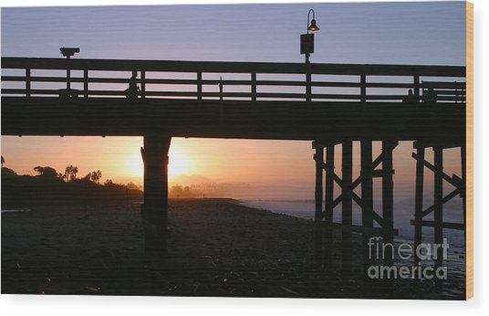 Sunrise Pier Ventura Wood Print