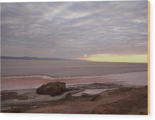 Sunrise Salt Lake - Tunisia  Wood Print by Simona  Mereu