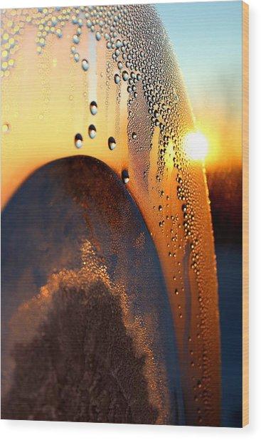 Sunrise Thru Ice Wood Print