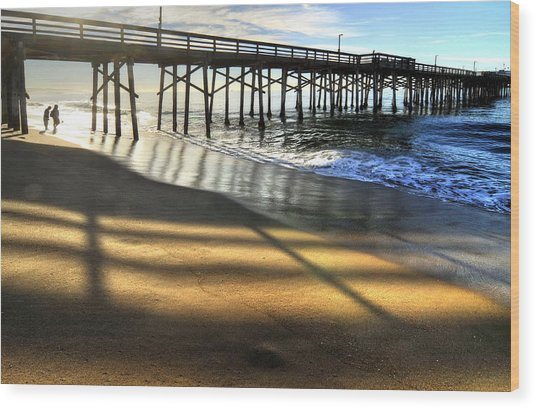 Sunrise Trestle Wood Print