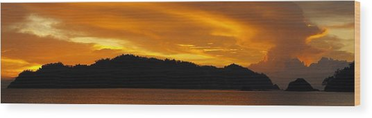 Sunscape Panorama  Curu National Wildlife Park Costa Rica Panorama Wood Print