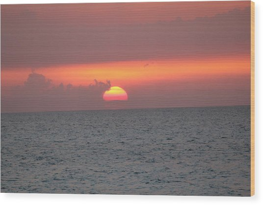 Sunset - Cuba Wood Print by David Grant