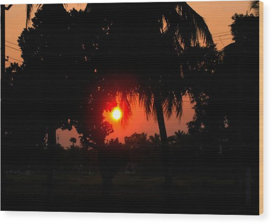 Sunset 4 Wood Print by Johnson Moya