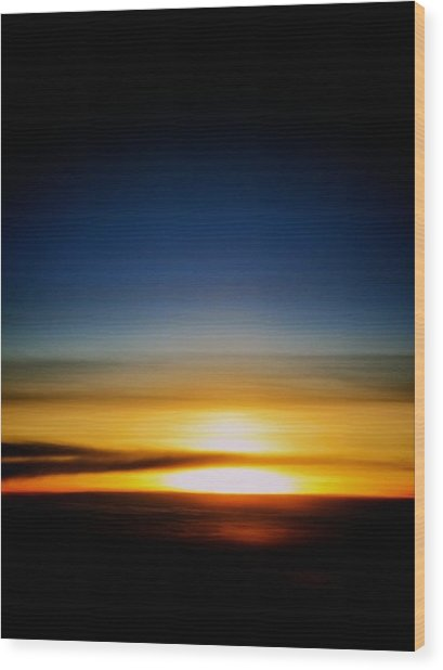 Sunset Above The Clouds Wood Print by Jyotsna Chandra