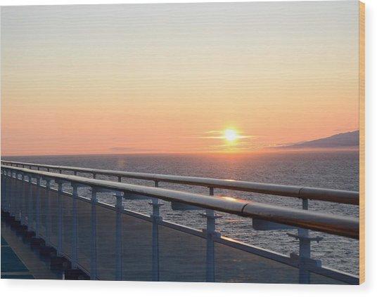 Sunset At Sea 2 Wood Print