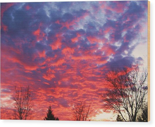 Sunset Wood Print by Barron Peterson