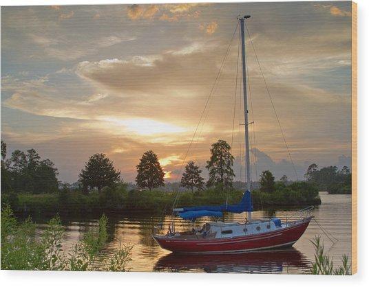 Sunset Bay Wood Print by Diane Carlisle