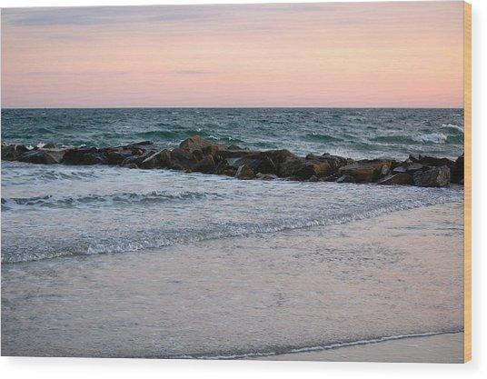 Sunset Colors The Atlantic Sky Wood Print
