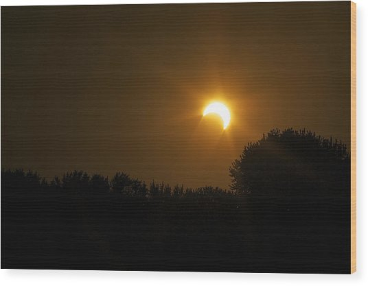 Sunset Eclipse Wood Print