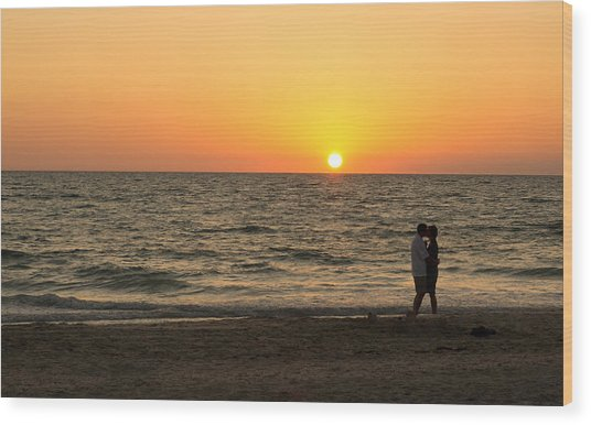 Sunset Embrace Wood Print