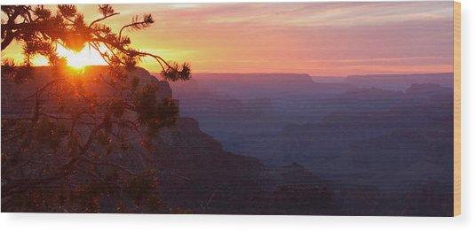 Sunset In Grand Canyon Wood Print by Olga Vlasenko