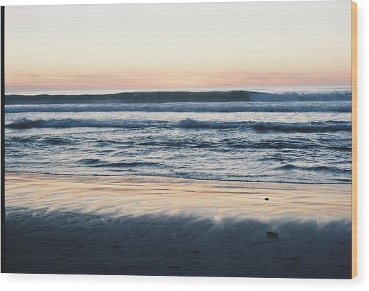 Sunset In Sand Wood Print by Trent Mallett