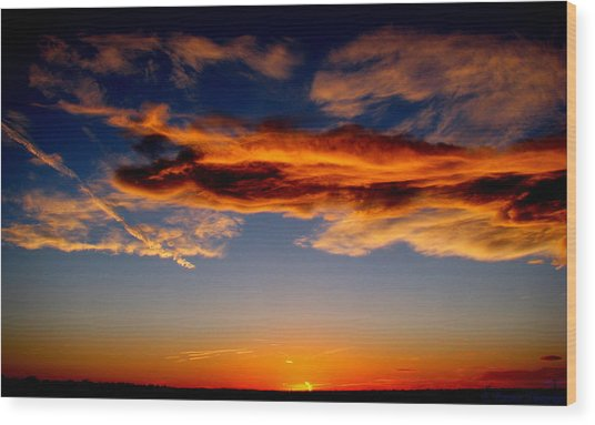 Sunset Layers Wood Print by Aaron Burrows