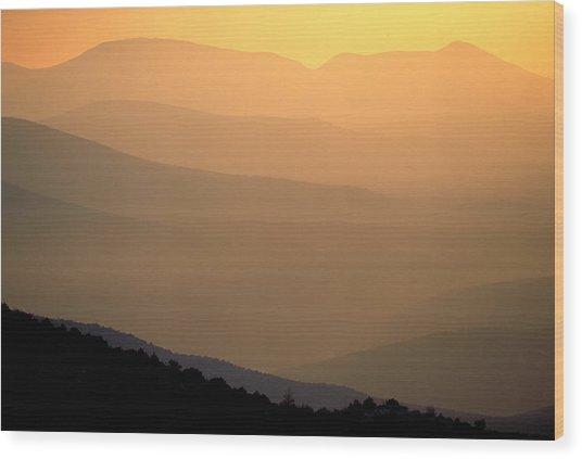 Sunset Layers Wood Print