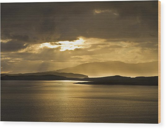 Sunset On Skye Wood Print