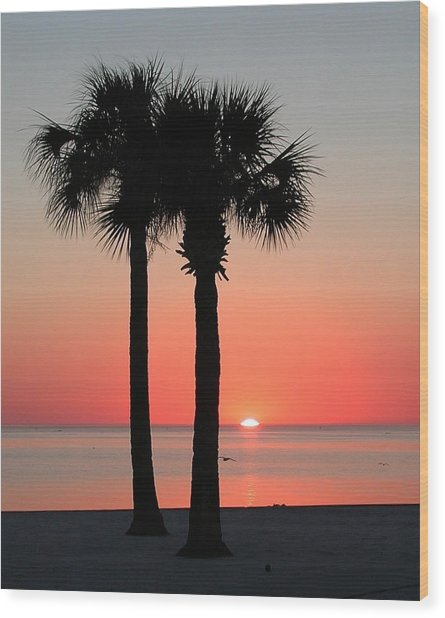 Sunset Pink Wood Print
