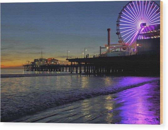 Sunset Purple Wood Print