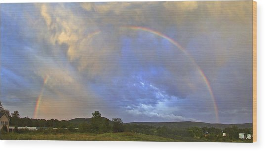 Sunset Rainbow Wood Print