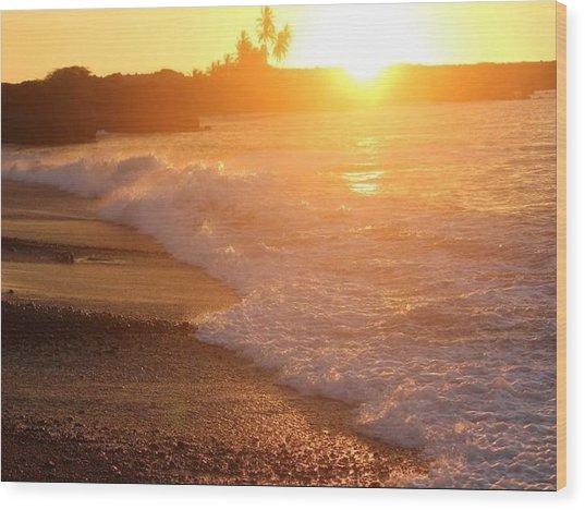 Sunset Rays Wood Print by Nadi Leonard