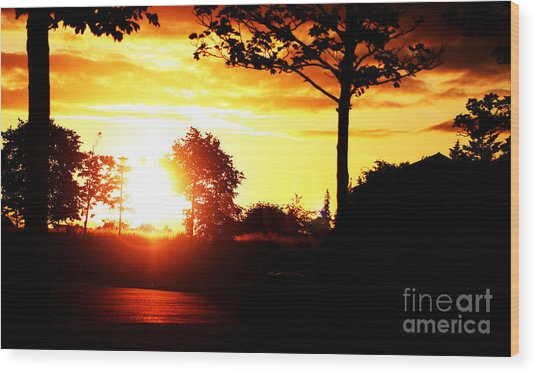Sunset Soon Wood Print by Alexander Photography