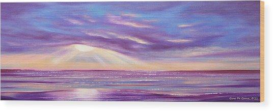 Sunset Spectacular - Panoramic Sunset Wood Print