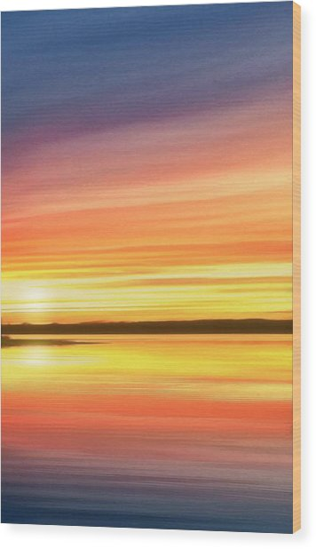 Sunset Stratas Wood Print