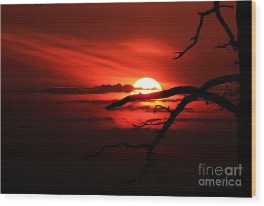 Sunset Zen Wood Print