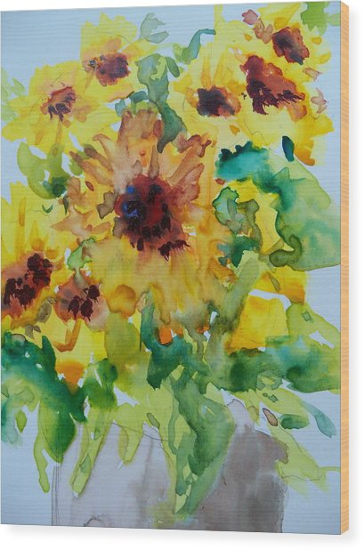 Sunshine Bright Wood Print