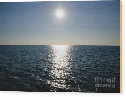Sunshine Over The Mediterranean Sea Wood Print