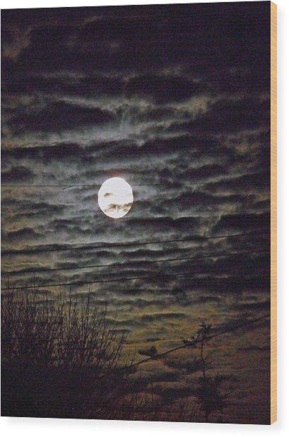 Super Moon 5 Wood Print