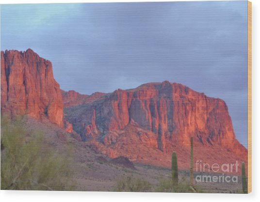 Superstitions After The Rain Wood Print by Patty Descalzi