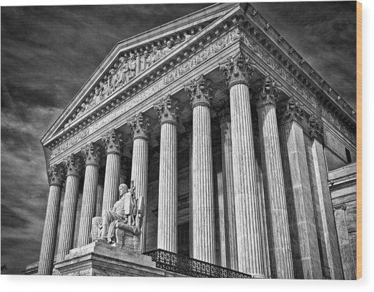 Supreme Court Building 5 Wood Print by Val Black Russian Tourchin