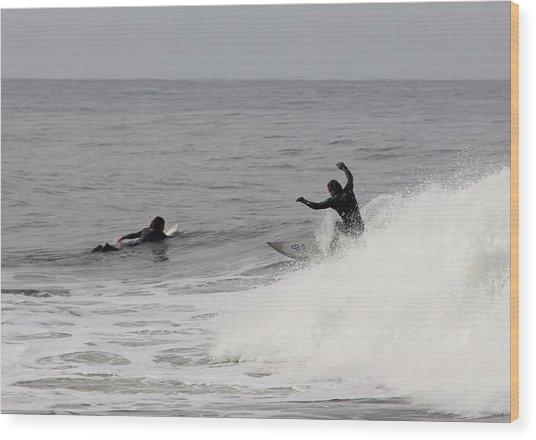 Surf 3 Wood Print by Dan Madden