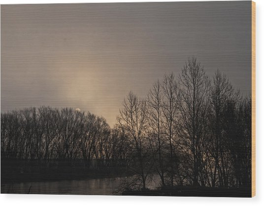 Susquehanna River Sunrise Wood Print
