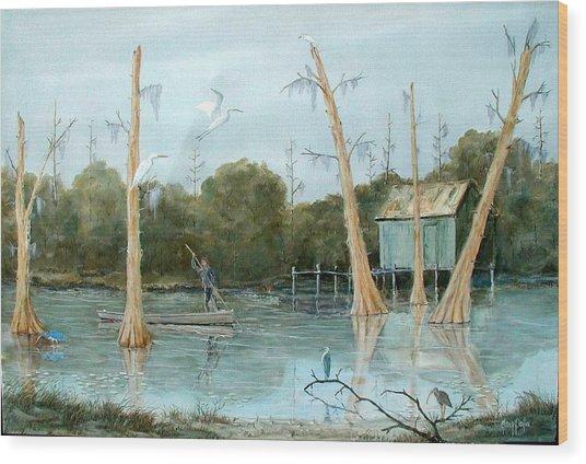 Swamp Bayou Wood Print