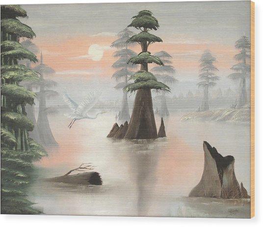 Sweeping Through Henderson Swamp Wood Print by Julliette Salter
