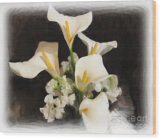 Sweet Calla Lilies Wood Print