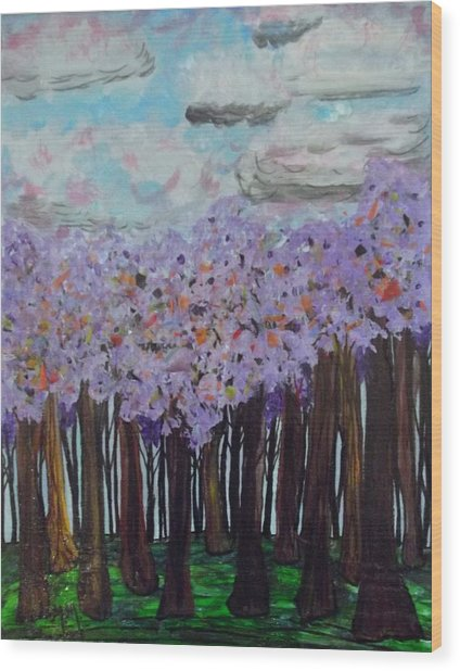 Sweet Trees Wood Print by Megan Ford-Miller