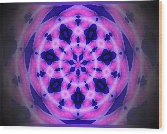 Swirl Of The Pinwheel Wood Print by Myrna Migala