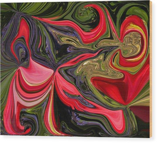 Swirled Garden 1 Wood Print