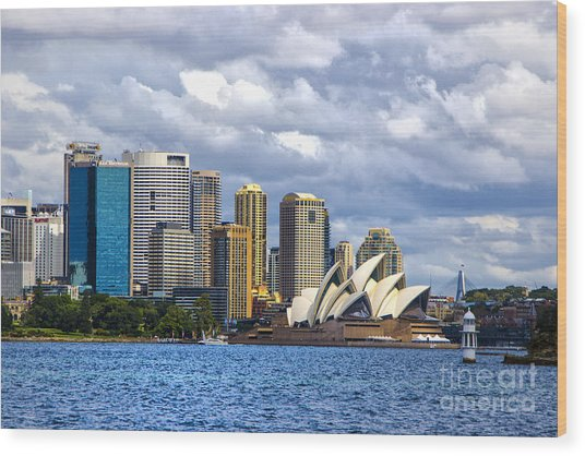 Sydney Harbour One Wood Print by Rick Bragan