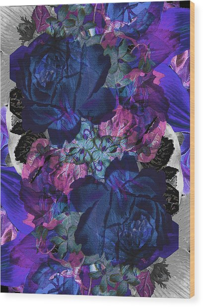 Symetry Rose Garden Wood Print by Carly Ralph