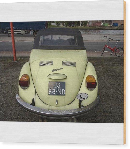 Symmetry #vw #volkswagen #vintage Wood Print