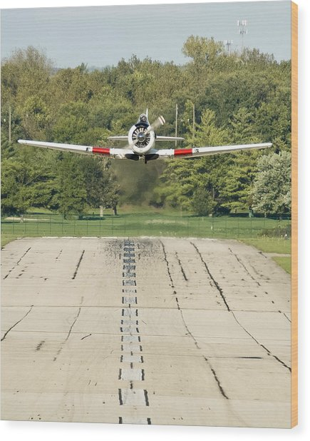 T-6 Take Off  Wood Print