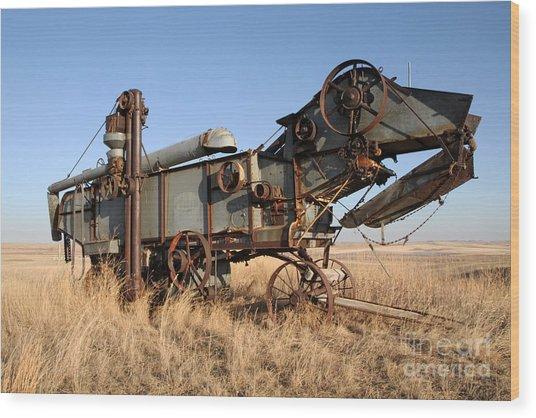T-rex Of The Farm Wood Print