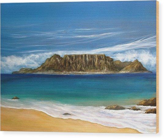 Table Mountain 2 Wood Print by Heather Matthews