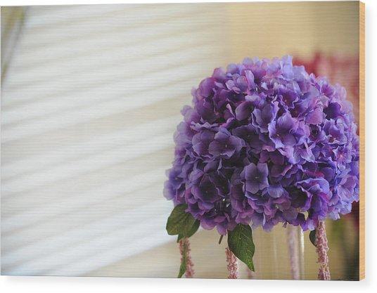 Tabletop Bloom Wood Print by Brandon McNabb